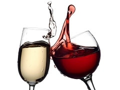 wine-red-and-white-glasses